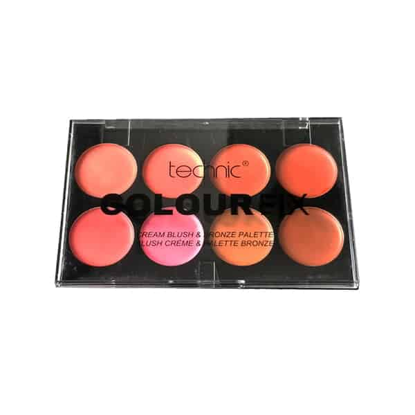 Technic ColourFix 8 Colours Cream Blush & Bronze Palette