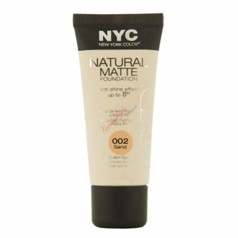 NYC Natural Matte Foundation 002 Sand